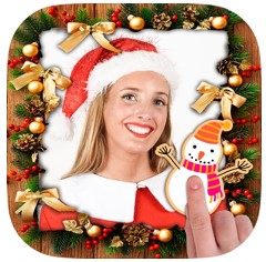 christmas photo frame editor
