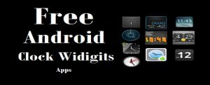 free android clock widgets